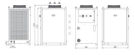 Tcu56÷a0 Grandezza 2 Refrigeratori Industriali Per Fluidi Inquinati O Sporchi - LINEA REFRIGERAZIONE