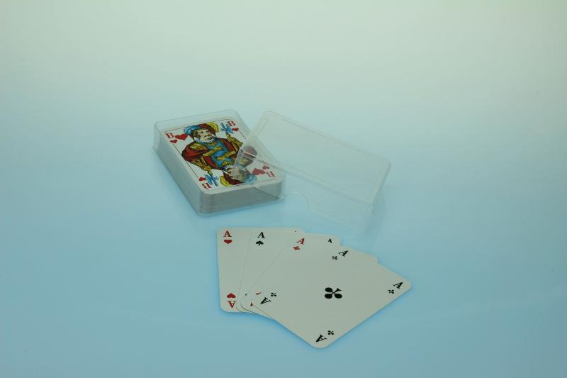 Spielkartenbox Doppelkopf - transparent - Spielkartenverpackungen