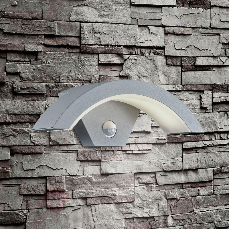 Applique d'extérieur LED Ohio à détecteur titane - Appliques d'extérieur avec détecteur