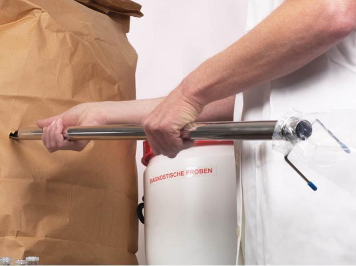 StickProof - Dispositif d'échantillonnage pour la poudre, l'acier inoxydable