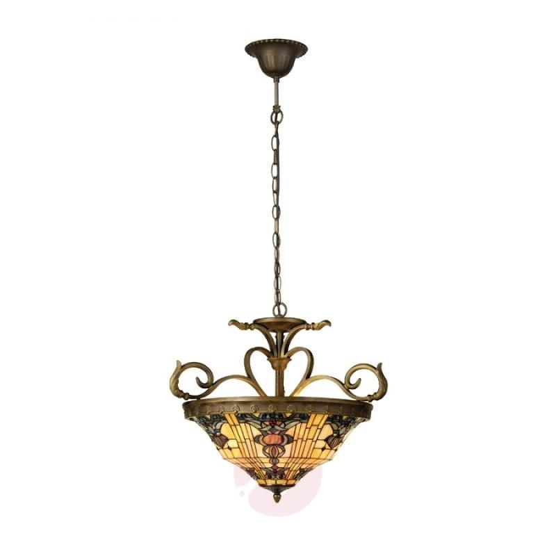 Tiffany-style hanging lamp Anthia 2 - design-hotel-lighting