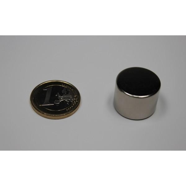 Neodymium disc magnet 20x15mm, N42, Ni-Cu-Ni, Nickel coated - Disc