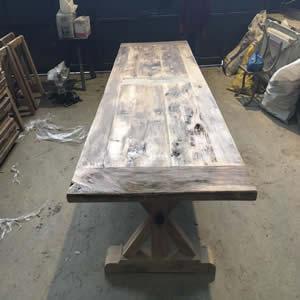 Rustic table top -  RUSTIC OAK TABLE TOP