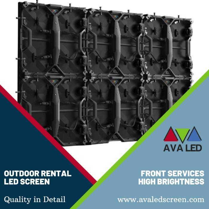 Elite CR Outdoor Series - P2.97 - P3.91 - P4.81 Telas de LED AVA de estojo portátil