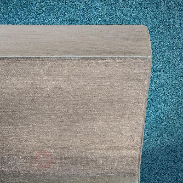Applique Inja plâtre, argent vieilli - Appliques en plâtre
