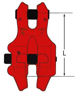 Griffes de raccourcissement - Griffe de raccourcissement à chape avec verrou de sécurité type SCA