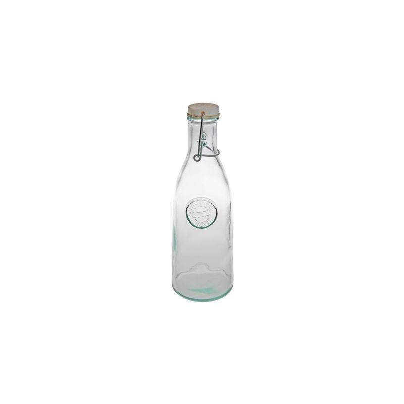 1 Bouteille 950 ml en verre 100% recyclé, capsule mécanique - Flacons et Carafes