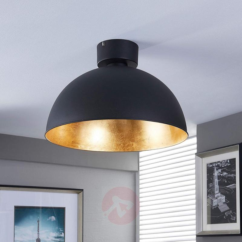 Pretty LED ceiling light in black and gold - indoor-lighting