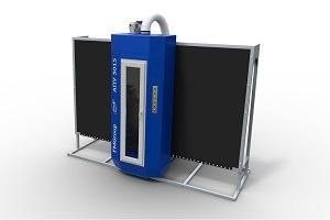 Automated sandblasting machine - 3015 Standard - for matting and stenciling on glass or mirror