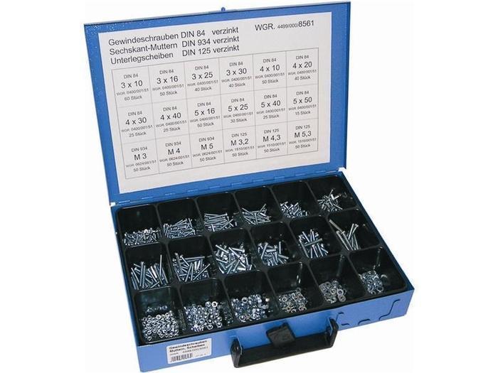 Sortiment Koffer & Boxen - Dresselhaus 8561 Sortiment Gewindeschraube, verzinkt DIN84 D