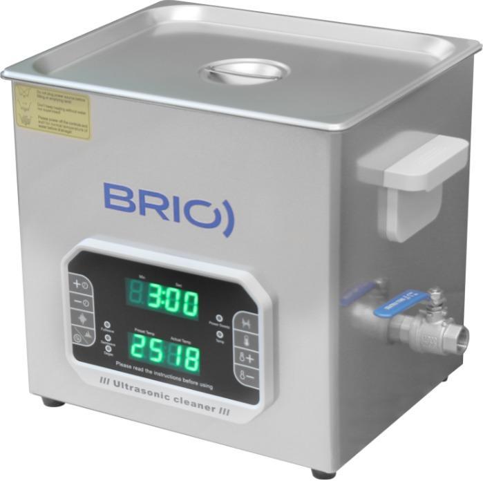 BR-10 LAB Plus - Máquina de limpieza por ultrasonidos manual de 10 L