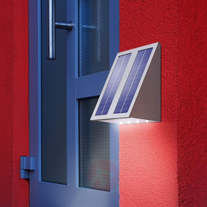 Super Effect design solar wall light - stainless-steel-outdoor-wall-lights