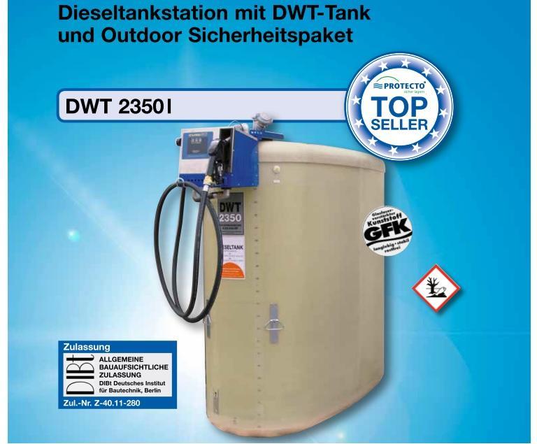 Dieseltankstation DWT 2350 Outdoor, doppelwandig aus GFK - null