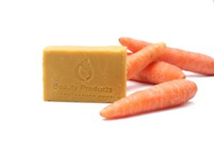 Carrot soap - Carrot soap contains a huge amount of vitamin A.