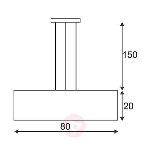 SOPRANA 1 Elegant Rectangular Pendant Lamp - Pendant Lighting