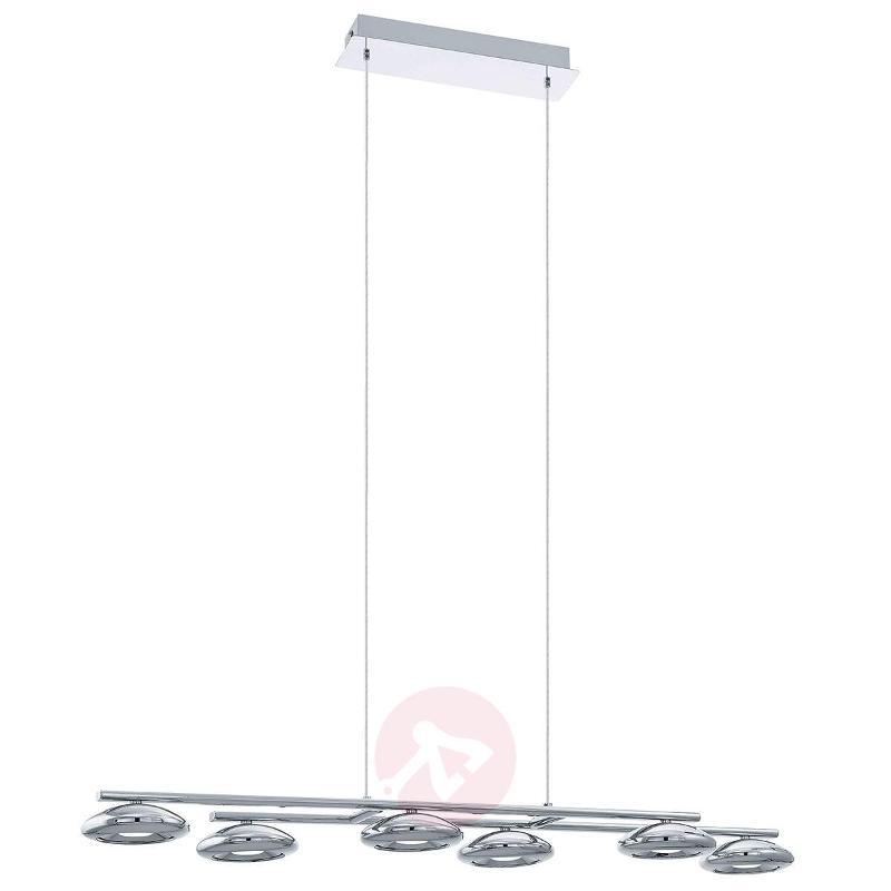 Glossy chrome LED pendant light Taruga - Pendant Lighting
