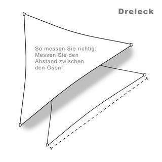 hanSe® Marken Sonnensegel 100% Polyester Dreieck 5x6x6... - null