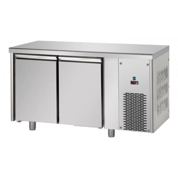 Tables réfrigérées négative 2 portes inox sans dosseret - Référence TF2SYBT