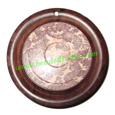 Handmade wooden fancy pendants, size : 50x9mm - Handmade wooden fancy pendants, size : 50x9mm