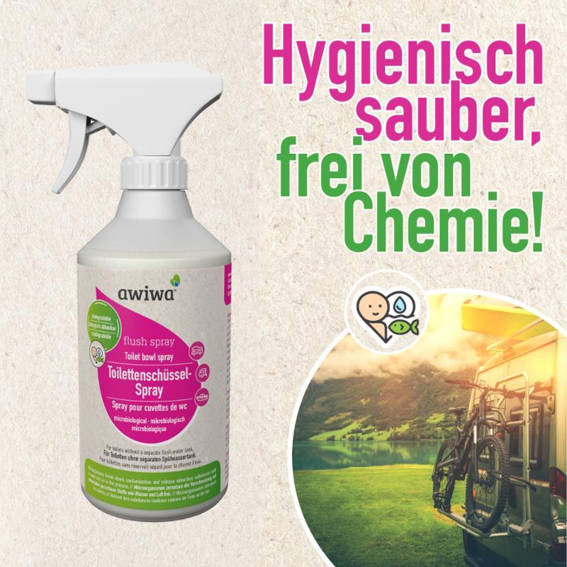flush spray – Sanitärflüssigkeit Reinigungsspray - Camping Reiniger