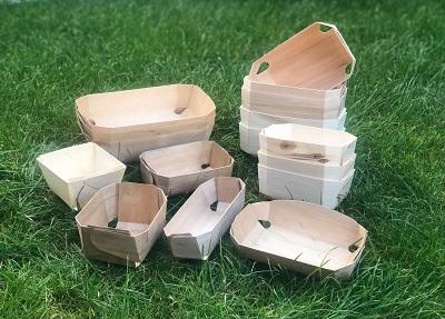 Корзинки, лотки из шпона, натуральная упаковка - биоазлагаемая упаковка