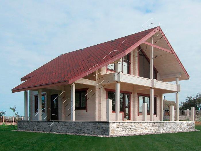 Holzhaus-Kirsche - Eine im Werk exakt zugesägte, verzapfte und markierte einbaufertige Konstruktion