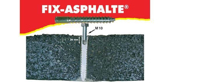 Signalisation caoutchouc & parking - Fixation fix-asphalte - null