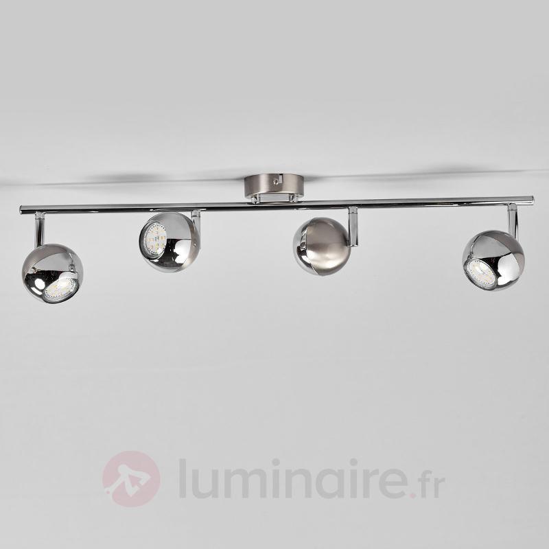 Plafonnier Arvin nickel et chromé, LED - Spots et projecteurs LED