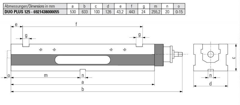 Version DUO PLUS 125 MECHANISCH - DUO Spanner geeignet für konventionelle Spannung sowie für Grippspannung