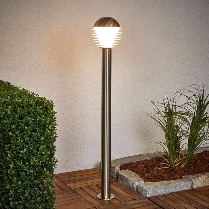 Fine borne lumineuse LED en inox Ruben - Bornes lumineuses inox