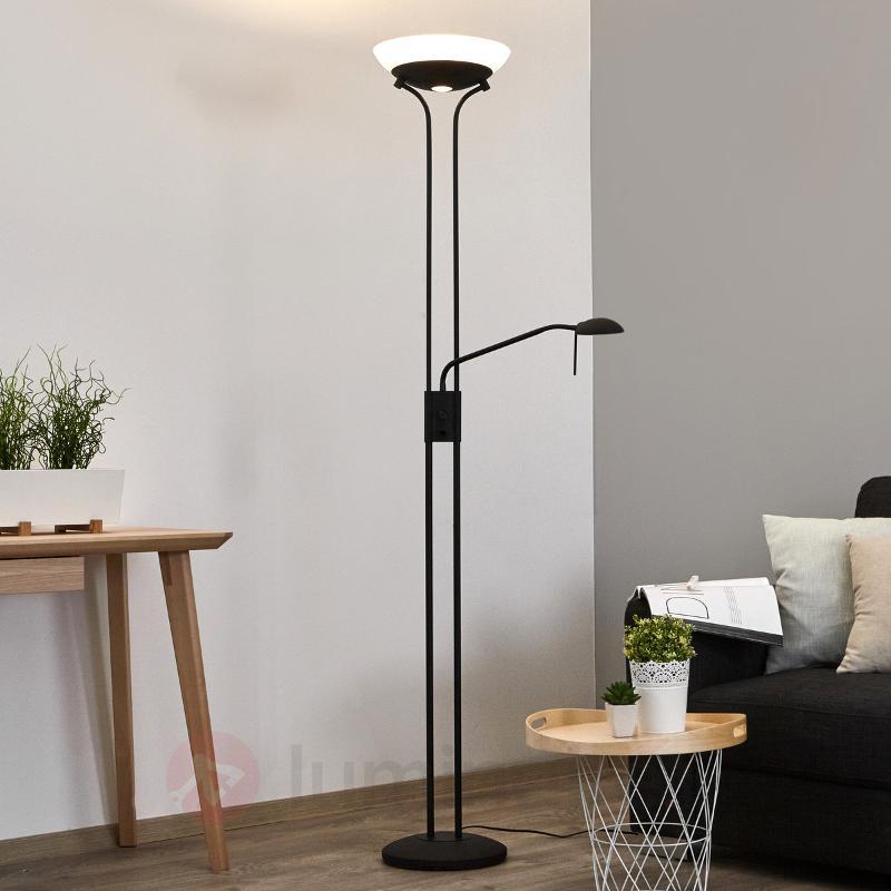 Lampadaire LED Denise avec liseuse - Lampadaires LED à éclairage indirect