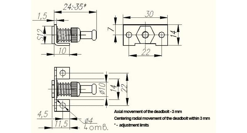 Promix-ad.db.03 Deadbolt - Accessories for locks