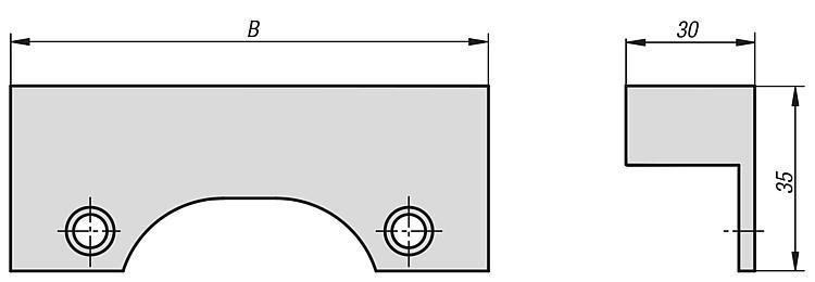 Mors de serrage avec surépaisseur d'usinage - Étaux