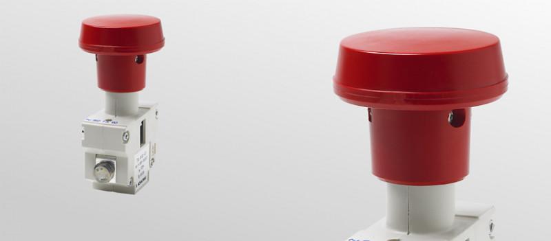 Notabschalter für Spannungen bis 100 V