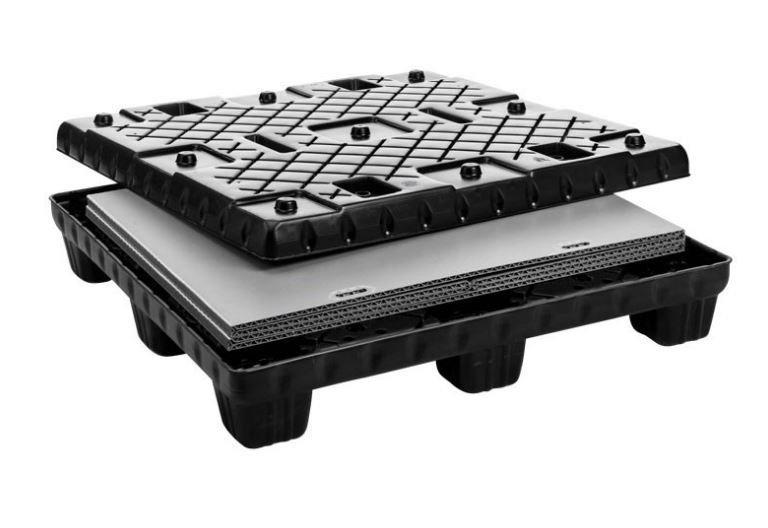 Grand bac pliable: Mega-Pack 1140 Con - Grand bac pliable: Mega-Pack 1140 Con, 1140 x 1140 x 1000 mm