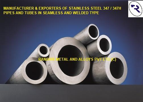 SS 347 SEAMLESS PIPES & TUBES