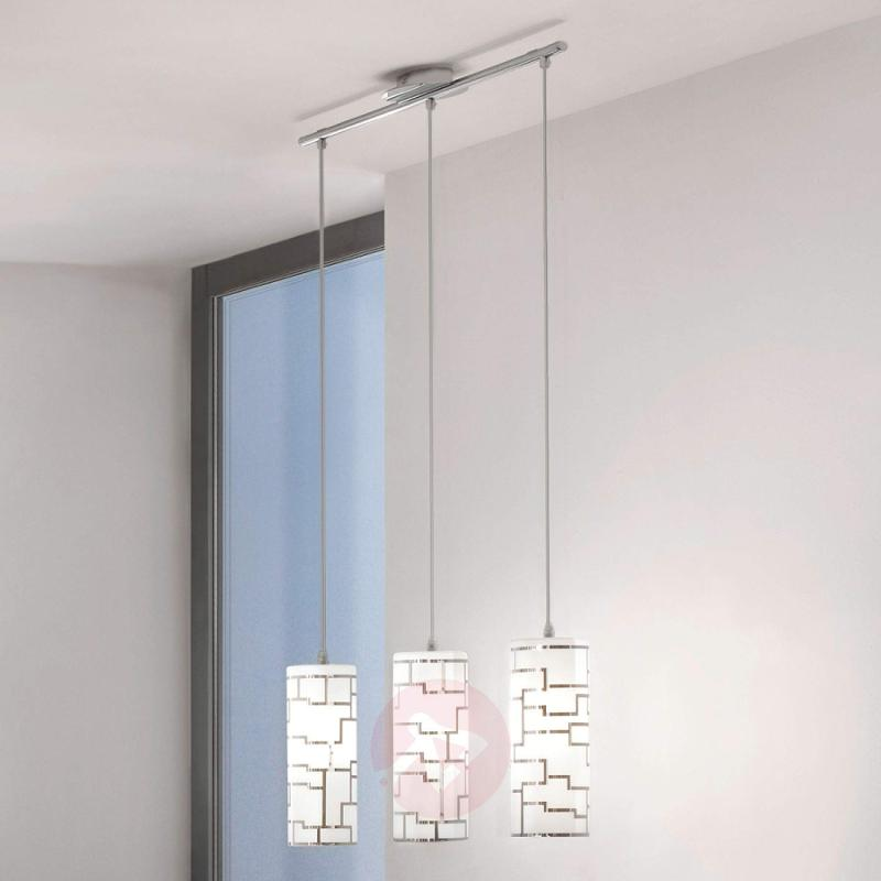 Bayman - 3-bulb pendant light with linear design - indoor-lighting