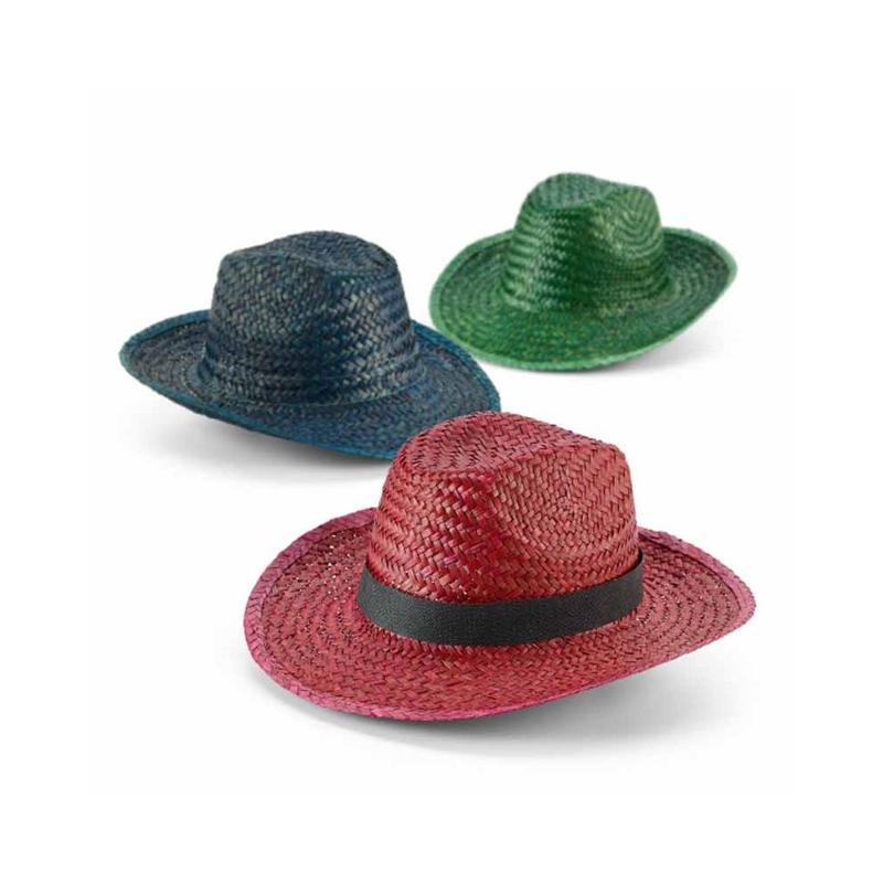 Chapeau paille colorée