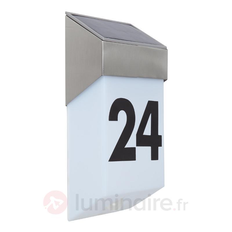 Numéro de maison LED solaire Solstel, détecteur - Numéros de maison lumineux