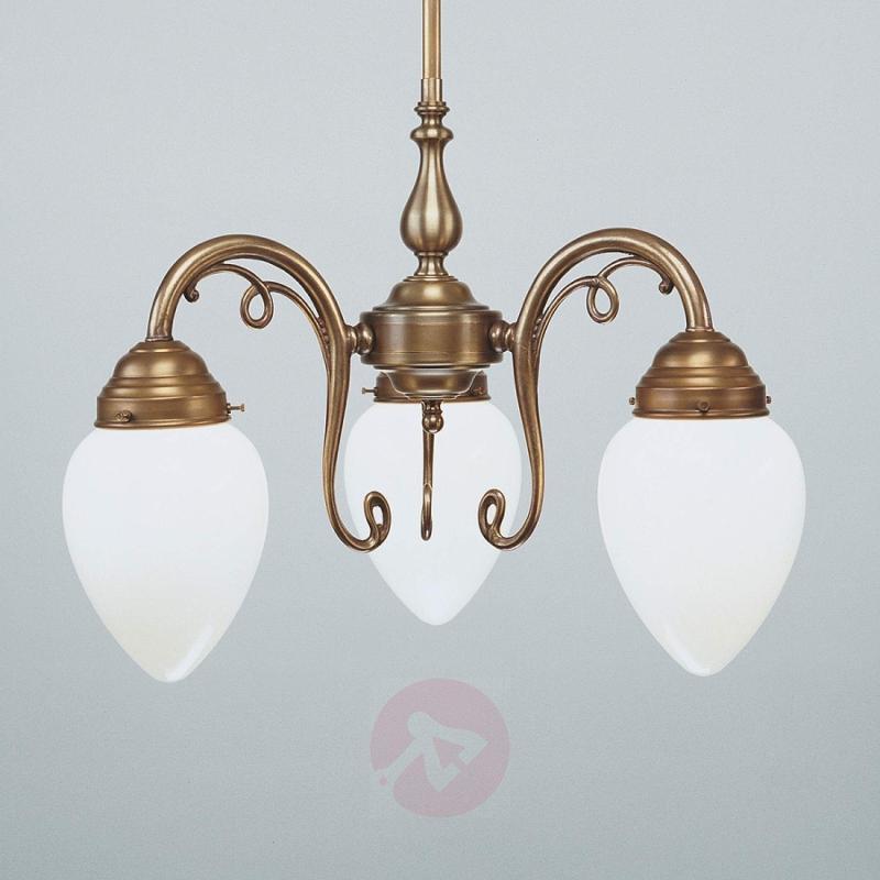 DORA three-bulb brass hanging light - design-hotel-lighting