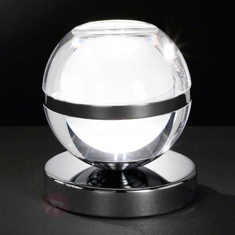 Lampe à poser LED Fulton chromée - Lampes à poser LED
