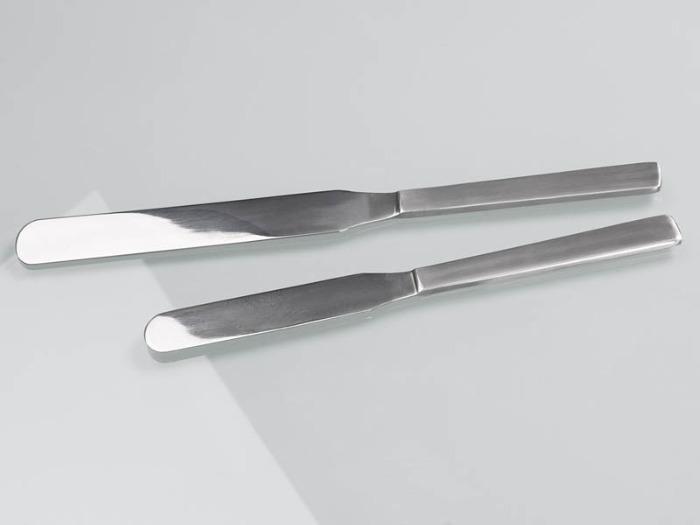 Rasqueta de acero inoxidable - Muestreador, equipo de laboratorio, 200 mm o 250 mm de longitud