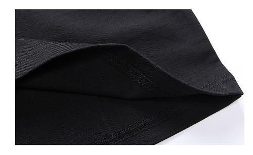 De manga larga de algodón estampada con cuello redondo - Los hombres de manga larga camisa de algodón