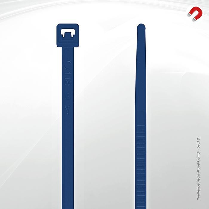 Allplastik-Kabelbinder® cable ties, detectable - 5203 D (blue)