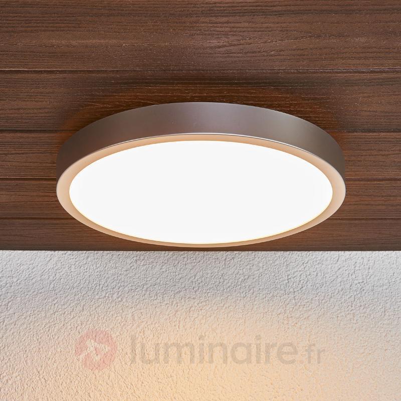 Plafonnier LED argenté Liyan pour la salle de bain - Salle de bains