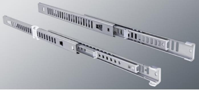ITS 045 stainless steel slide 28 kg - 22,2 x 19,6 mm full extension drawer slide stainless steel length 100 - 500 mm