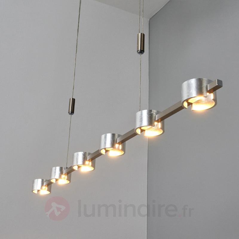 Suspension en métal frappé Niro LED variables - Suspensions LED