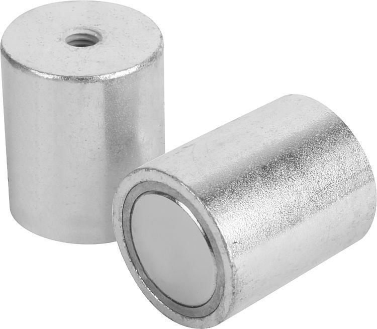 Aimant cylindrique taraudé en NdFeB - Aimants