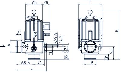 2/2-way drain valve NC, DN 40 IP 65, IP 68 - 04.040.116