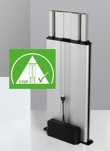 Columna elevadora Multilift II safety - Boca abajo